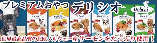 北欧ノルウェー産のサーモンを使用した健康おやつ「Delicio デリシオ」バナー